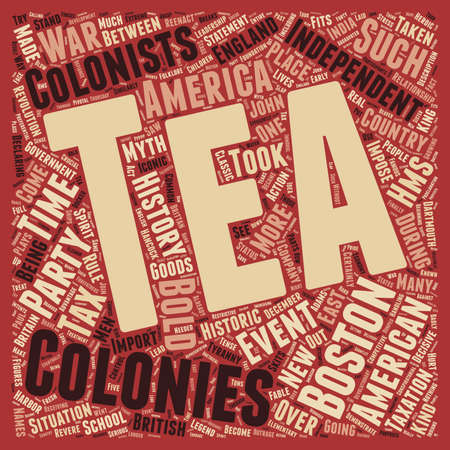 declaring: The Boston Tea Party 1 text background wordcloud concept