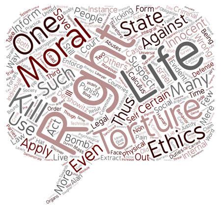 argument: The Argument for Torture text background wordcloud concept Illustration
