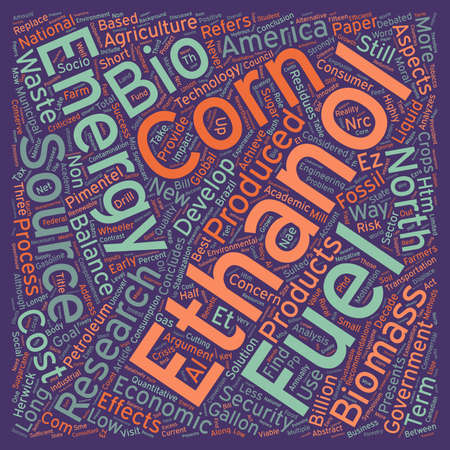 produced: The Bio Ethanol Fuel Dilemma A Qualitative Research text background wordcloud concept Illustration