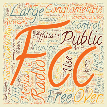 fcc: The FCC and Free Speech 1 text background wordcloud concept