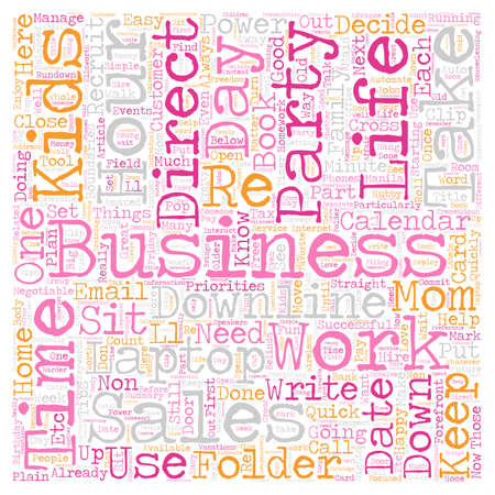 direct sale: The Balanced Direct Sales Mom text background wordcloud concept Illustration