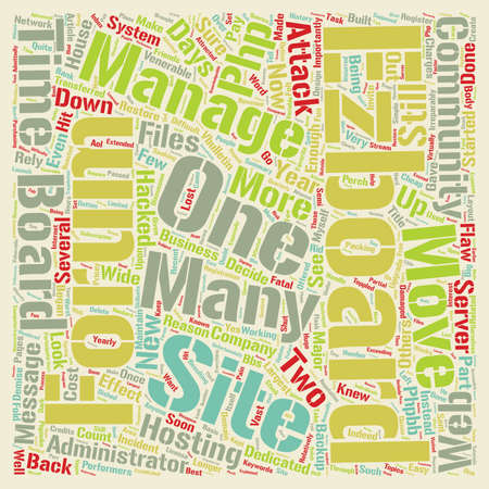 The Demise of EZBoard text background wordcloud concept Illustration