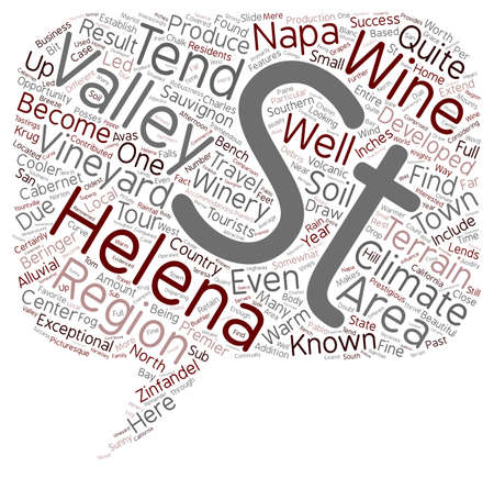 napa: The Climate and Terrain of St Helena txt text background wordcloud concept