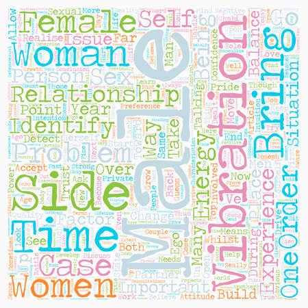 The Battle of the Sexes text background wordcloud concept Illustration