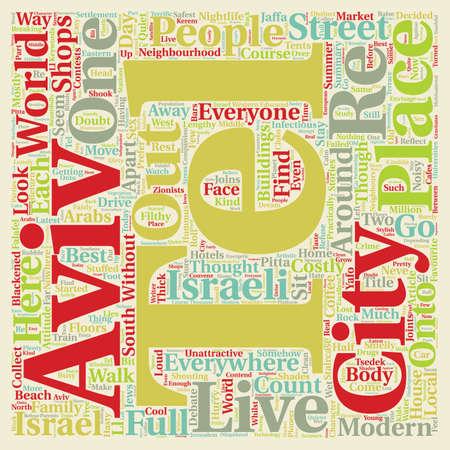 aviv: Tel Aviv text background wordcloud concept