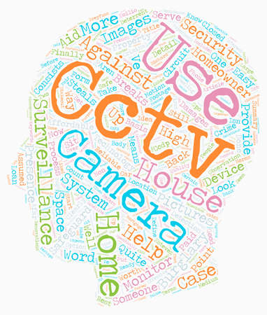 homeowner: Surveillance for the homeowner text background wordcloud concept Illustration