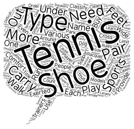 摘要: Tennis Shoes for Beginners text background wordcloud concept