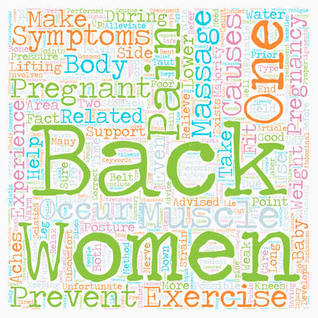 pains: The Aches and Pains of Pregnancy and Back Pain text background wordcloud concept