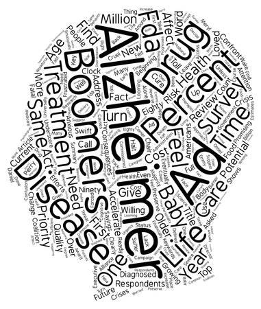 alzheimer s disease: Survey Accelerated Treatment Needed For Alzheimer s Disease text background wordcloud concept