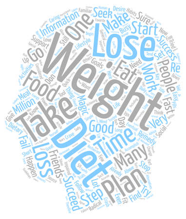 impaired: Successful Weight Loss In Five Easy Steps text background wordcloud concept Illustration