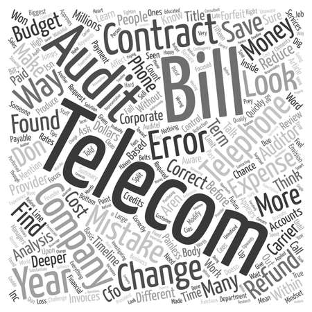 contracts: Telecom Contracts Is This Where The Money Is text background wordcloud concept
