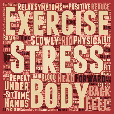providing: Stress text background wordcloud concept Illustration