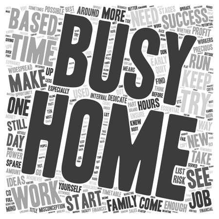 dedicate: Successful Home Based Business text background wordcloud concept