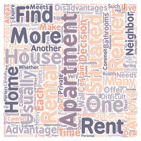 carefully: Should You Rent A House Or An Apartment text background wordcloud concept