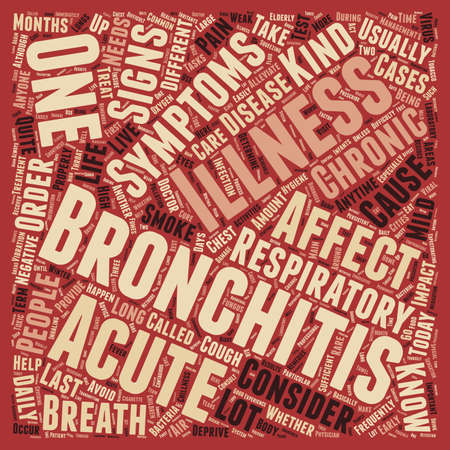 sign and symptom of bronchitis text background wordcloud concept