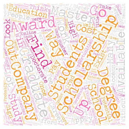 Stipendien für Graduate Students Text Hintergrund Konzept Wordcloud