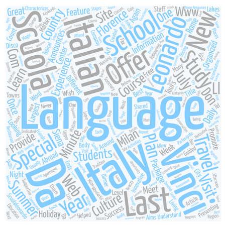 leonardo da vinci: Scuola Leonardo Da Vinci Announces The New Last Minute Special Offers For Summer 2007 text background wordcloud concept