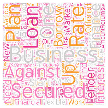 opportunity concept: Secured business loans An opportunity to showcase one s entrepreneur skills text background wordcloud concept