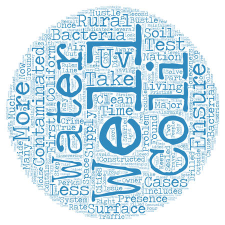 Rural Water Woes Bacteria In Your Well text background wordcloud concept Illustration