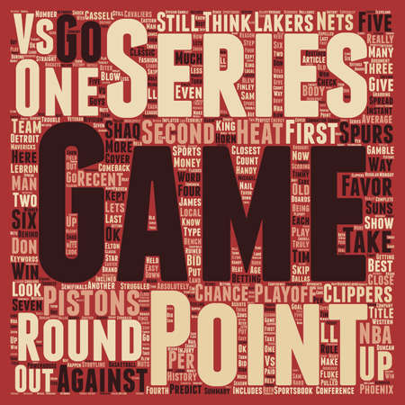 nba: Second Round Should be an Instant Classic text background wordcloud concept