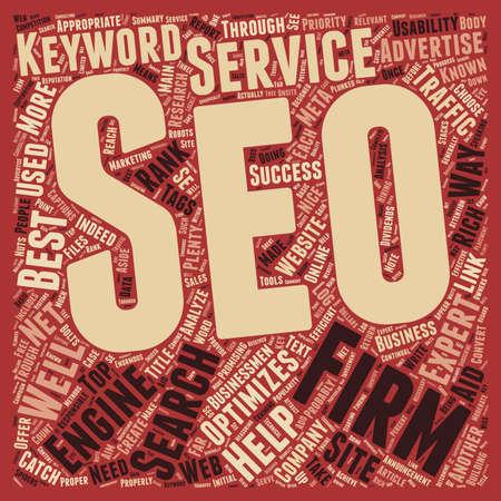 trough: SEO Firms Help For Businessmen s Online text background wordcloud concept