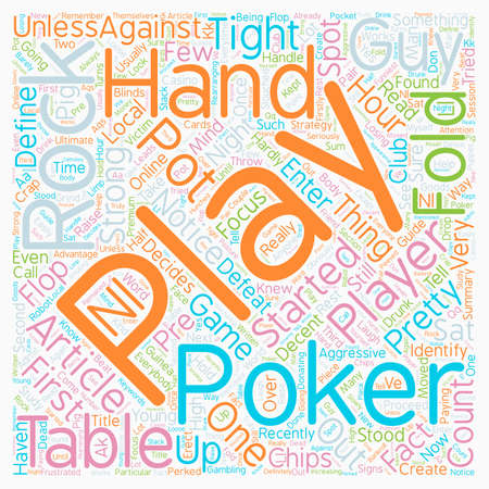 Rocks at the Poker Table text background wordcloud concept Illustration
