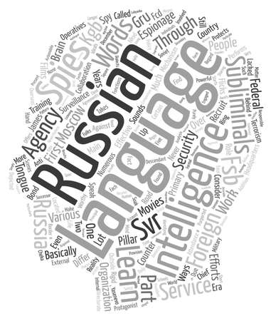 numerous: Russian Spies Language and Subliminals text background wordcloud concept