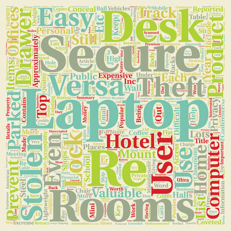 approximately: Secure Your Laptop Secure Your Privacy text background wordcloud concept Illustration