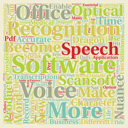 nuance: Scansoft Is Now Nuance New Name New Products text background wordcloud concept