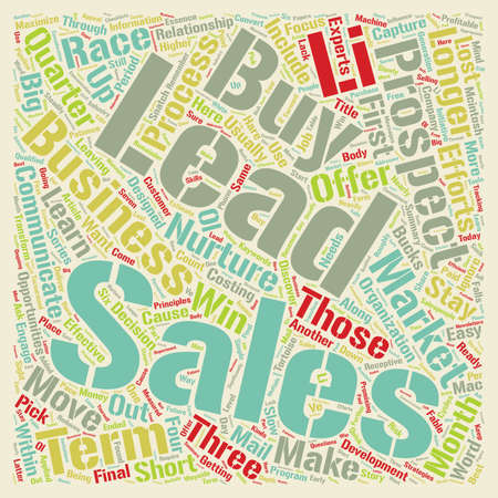 leads: Sales Leads Maximize Your Sales From Longer Term Sales Leads text background wordcloud concept