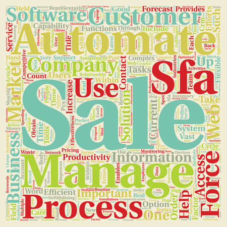 automate: Sales Process What Can You Automate text background wordcloud concept