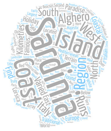 sardinia: Sardinia Paradise in the med text background wordcloud concept