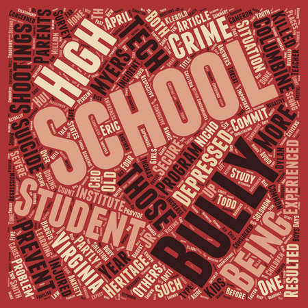 threat: Schools Biggest Threat text background wordcloud concept