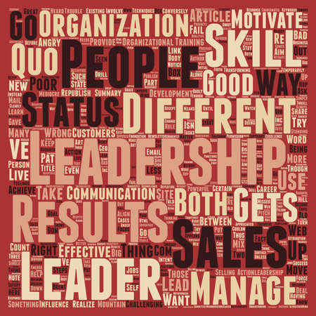 matter: Sales And Leadership The Differences That Matter text background wordcloud concept