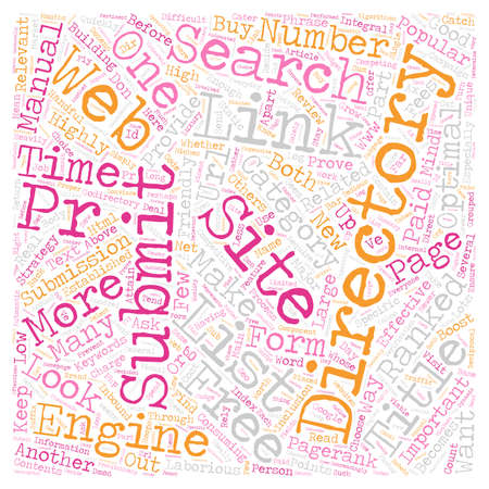 submitting: Read This Before you Submit to Web Directories text background wordcloud concept