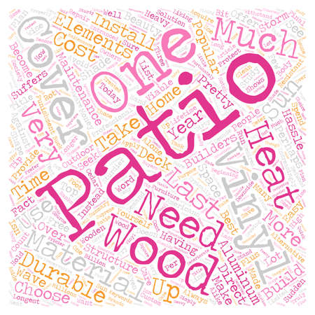 patio: Protect Your Patio With Vinyl Covers text background wordcloud concept