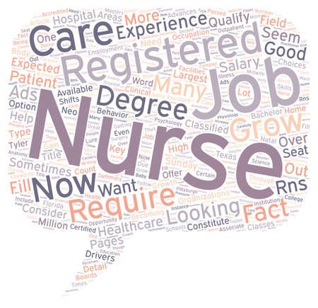 registered nurse: Registered Nurse Jobs text background wordcloud concept