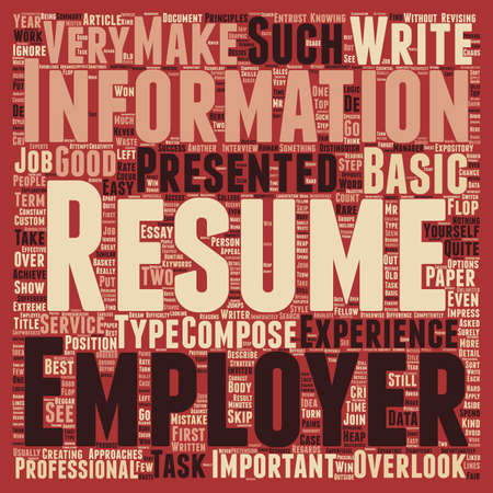 first step: Resume Your First Step to Success text background wordcloud concept