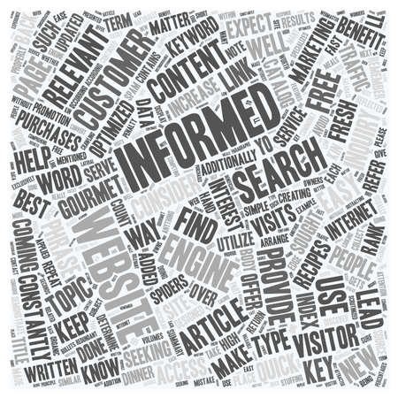 informative: Provide Informative Free Articles To Increase Traffic Return Visits To Your Website text background wordcloud concept