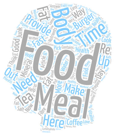 Quick And Easy Way To Figure Out If It Is Junk Food text background wordcloud concept Illustration