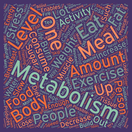metabolism: Quick Tips to Boost Your Metabolism text background wordcloud concept Illustration