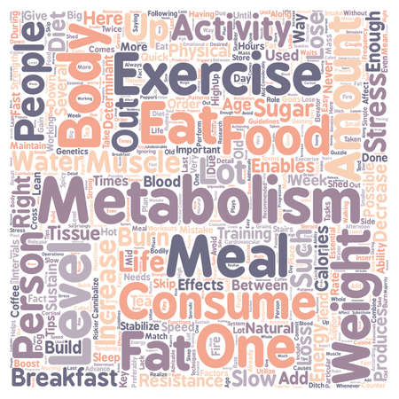 metabolism: Quick Tips to Boost Your Metabolism 1 text background wordcloud concept Illustration