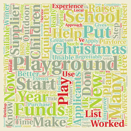 christmas list: Put A Playground On Your Christmas List text background wordcloud concept Illustration