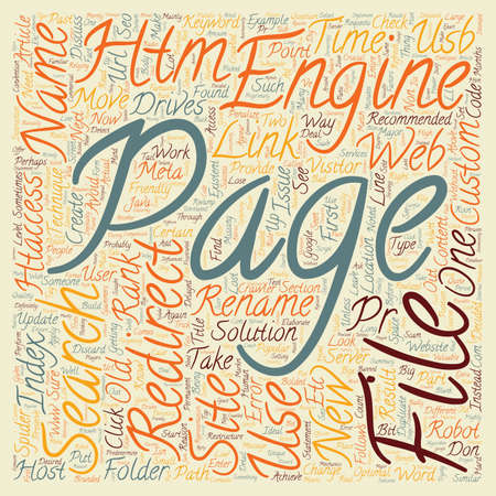 Redirect The SEO way to rename or move files or folders text background wordcloud concept Illustration