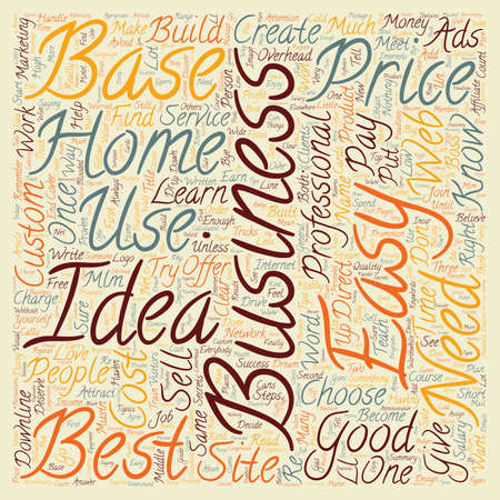 based: Proven Best Home Based Business Idea text background wordcloud concept