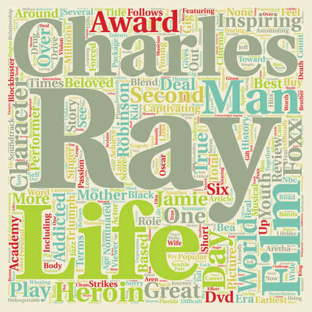 nominated: Ray DVD Review text background wordcloud concept