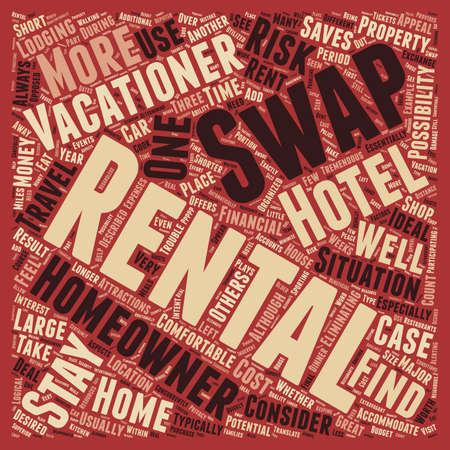 Rental Swaps text background wordcloud concept