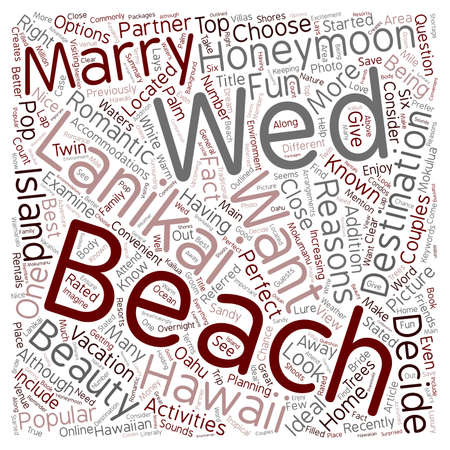 Reasons Why You Should Get Married At Lanikai Beach text background wordcloud concept