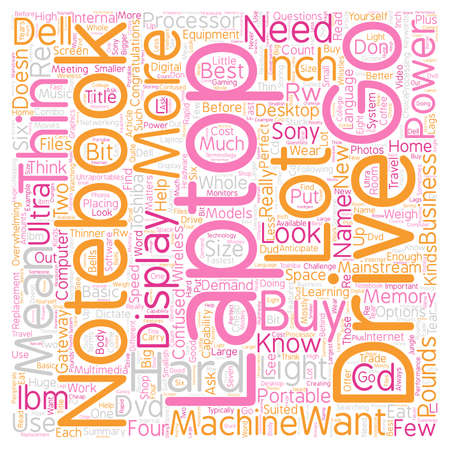 mainstream: Read This Before You Buy A Laptop text background wordcloud concept