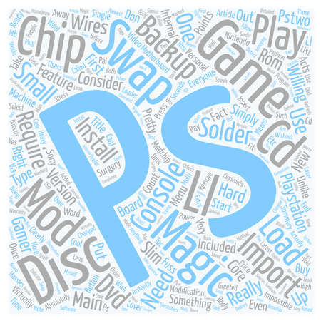 PS Swap Magic Import And Backup PS Games Are Just One Swap Magic Away text background wordcloud concept Illustration